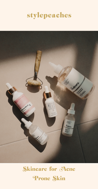 skincare routine for acne prone skin stylepeaches