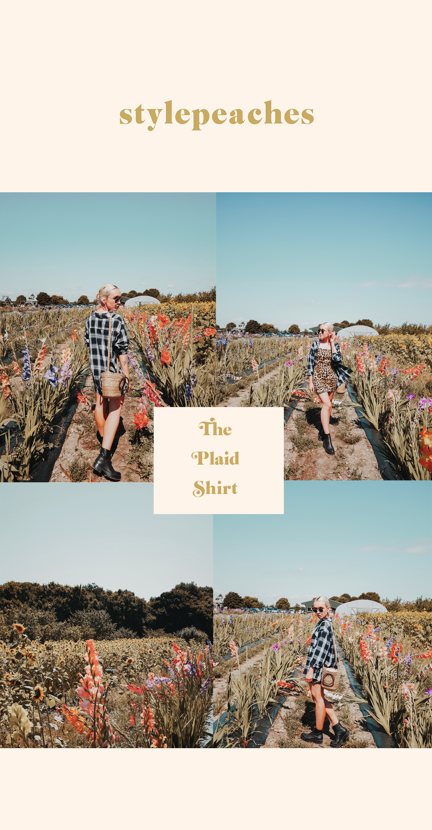 styling the plaid shirt - stylepeaches