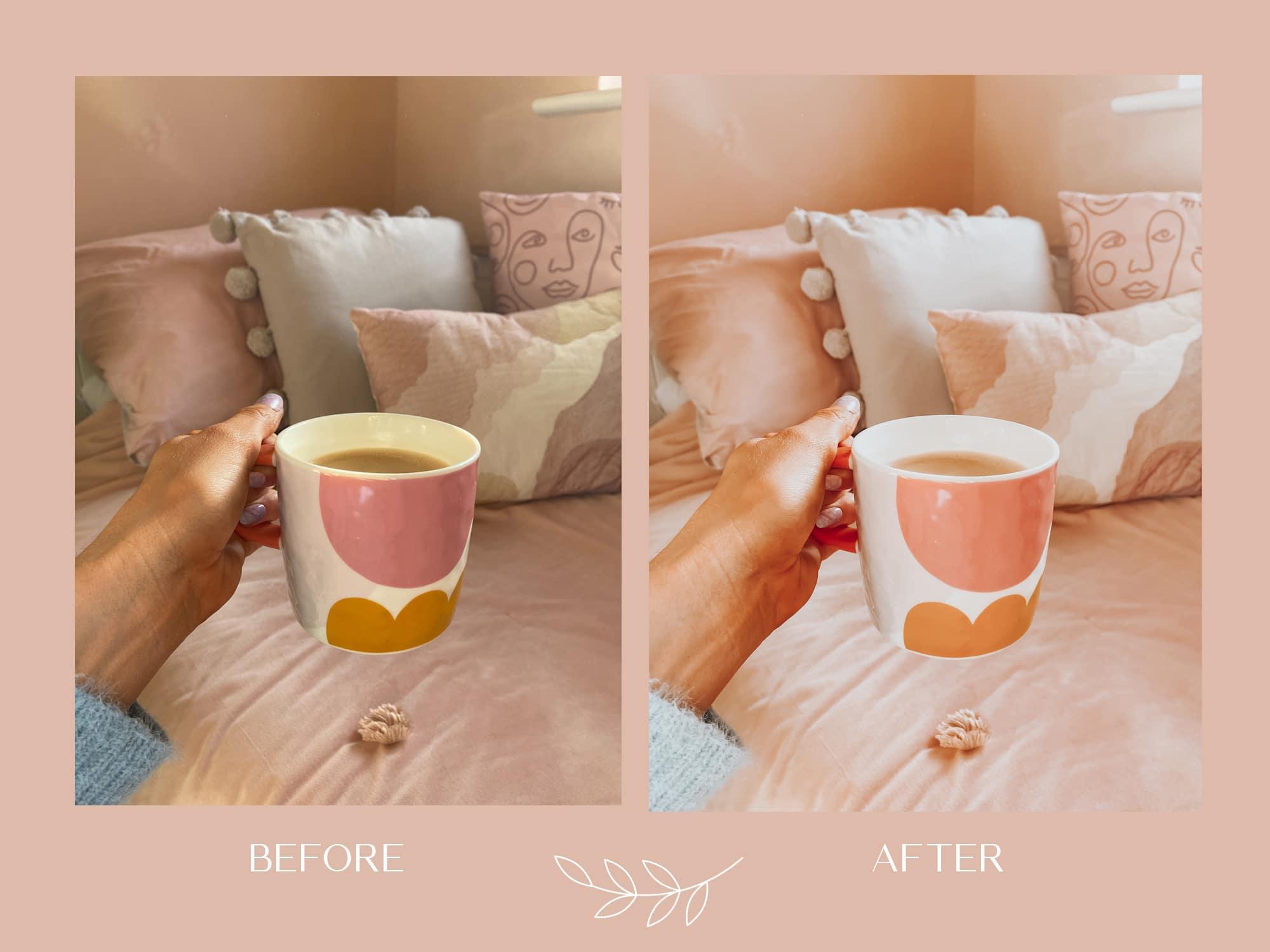 peach lightroom mobile preset